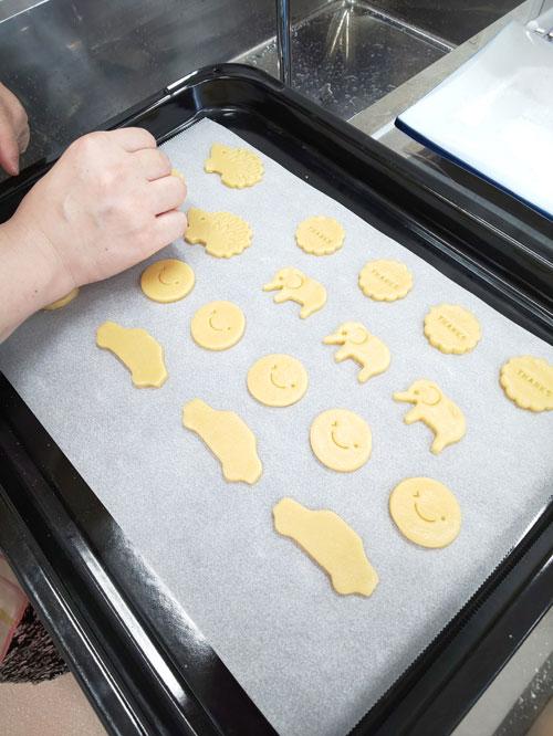 素朴な味の可愛いクッキー